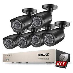 ZOSI 8 Channel 5MP Lite DVR 1080p Outdoor Security Camera Sy