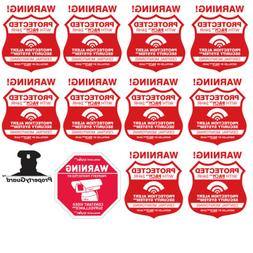 10 Real Home Security Alarm System Stickers - Plus CCTV Secu