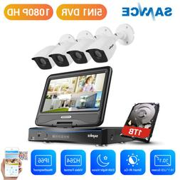 """SANNCE 1080N 10.1"""" LCD Monitor 4CH DVR 1TB 2MP Security Came"""