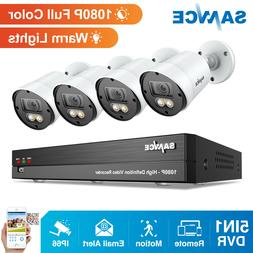 SANNCE 1080P 8CH DVR 2MP Full Color Outdoor Security Camera