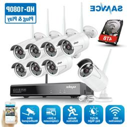 SANNCE 1080P 8CH NVR Wireless 2MP Outdoor IP Security Camera