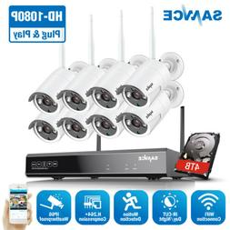 SANNCE 1080P 8CH NVR Wireless 8x 2MP WIFI Home Security Came