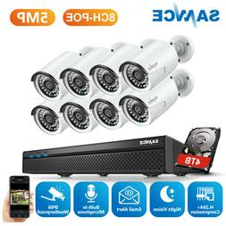 SANNCE 1080P HD POE In/Outdoor Security IP Camera System 8CH