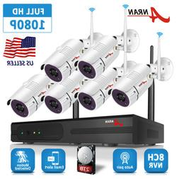 ANRAN Home Security Camera System Wireless 1080P Outdoor 4 6