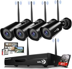 XVIM 1080P Wireless Security Camera System 4Pcs WiFi Surveil