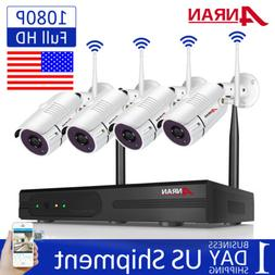 1080P Wireless WIFI Camera System Outdoor Home Security CCTV