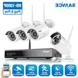 SANNCE 1080P Wireless WIFI Network 8CH NVR In/Outdoor Securi