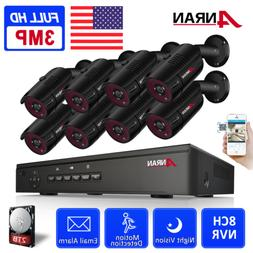 ANRAN 1440P Security Camera System Outdoor 2TB Hard Drive PO