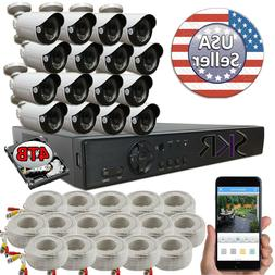 Sikker 16 Channel DVR 1080P Surveillance Security Camera Sys