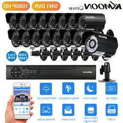 KKmoon 16CH H.265+ 1080P 5IN1 CCTV DVR System 720P Outdoor S