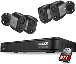 Zosi 2K 5Mp Home Security Camera System Outdoor Indoor, H.26