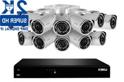 Lorex 2K IP Security Camera System with 16 Channel NVR and 1