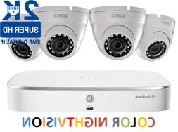 LOREX 2K IP Security Camera System with 8-Channel NVR & 4 Ou
