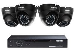 4 Channel Security DVR system with 4 720p HD Dome Cameras Lo