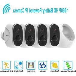 4 Security Camera System Outdoor HD 1080P Wireless Wifi IP B