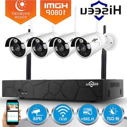 Hiseeu 4CH 1080P Wireless NVR WIFI CCTV Security IP Camera M