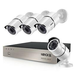 ZOSI 8CH H.265+ 5MP NVR 1080p IP POE Security Camera System