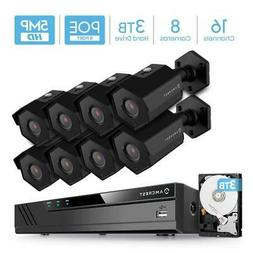Amcrest 4K 16-Channel 3TB HDD NVR Security Camera System wit