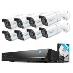 4K 8MP POE Security Camera System IP Wired 8CH NVR Kit 7x24