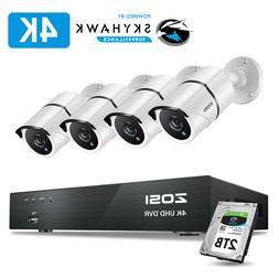 ZOSI 4K 8MP HD Security Cameras System with 2TB Hard Drive 8
