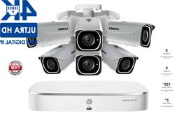 4K IP Camera System with 6 Ultra HD 4K Metal Cameras, 130ft
