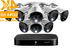 4K UHD 8-Channel Security System with 8 Active Deterrence 4K