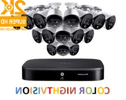 LOREX 4K Ultra HD 16-Channel Security System with 16 2K Acti
