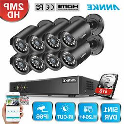 ANNKE 5in1 8CH 1080P Lite DVR Outdoor 2MP Security Camera Sy