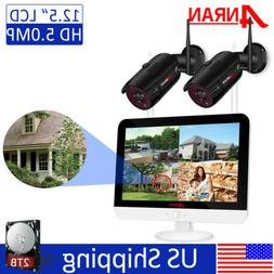 ANRAN 5MP 4CH Outdoor Wireless CCTV Security Camera System w