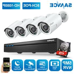 SANNCE 5MP 8CH NVR Outdoor 1080P POE Security IP Camera Syst