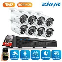 SANNCE 5MP POE Audio Recording 8CH NVR Security Camera Syste
