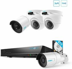 Reolink 5MP PoE Home Security Camera System, 8 Channel NVR R