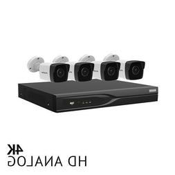 8 Channel DVR Security System with 4x Ultra HD 4K 8.3MP Bull