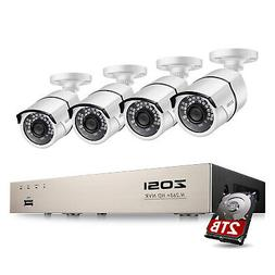 ZOSI H.265+ POE Security IP Camera System 5MP 2TB 8CH PoE NV