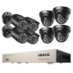 ZOSI 5mp Lite 8CH DVR 1080p Security Camera System Outdoor H