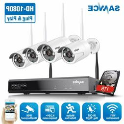 SANNCE 8CH 1080P NVR Wireless 2MP Security IP Camera System