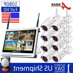 8CH 1080P Wireless Outdoor Security Camera System Home CCTV