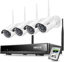 ZOSI 8CH 1080P Wireless Security Cameras System Outdoor with