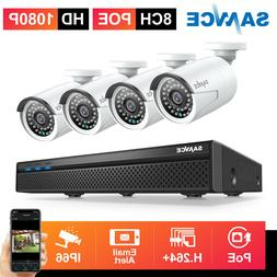 SANNCE 8CH 5MP NVR PoE 1080P Audio Record Security IP Camera