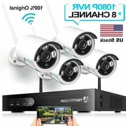 8CH HD 1080p Audio Security IP Camera System Wireless 2MP WI