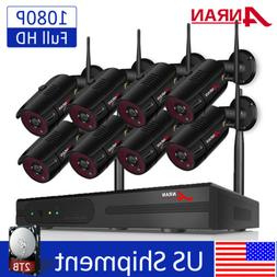 ANRAN 8CH Wireless Security Camera System 1080P Outdoor 2TB