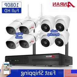 ANRAN CCTV Security Camera System Outdoor Wireless Audio Tal