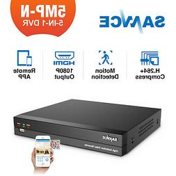 SANNCE H.264+ 5IN1 5MP-N 8CH DVR CCTV Video Recorder for Sec