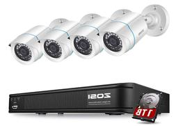 ZOSI H.265+ 1080P Home Security Camera System Outdoor Indoor