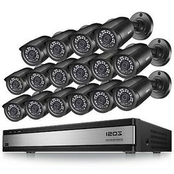 ZOSI H.265+ 16 Channel HDMI DVR 16 1080p Outdoor Security Ca