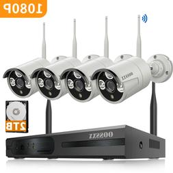 HD 4*1080P 8CH Channel 2TB NVR CCTV Camera Outdoor Home Secu