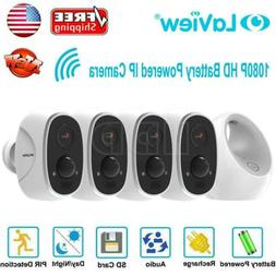 HD Security Camera IP Alexa Battery Powered 1080P LaView Out