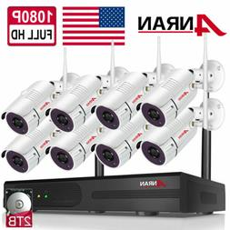Home Wireless Security Camera System Outdoor WiFi 1080P 8CH