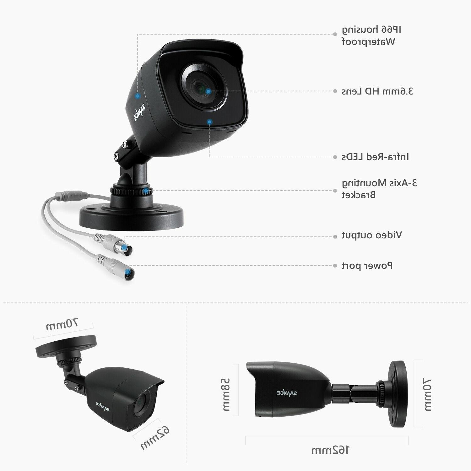 SANNCE 8CH DVR 1080P Security Camera H.264+ Onvif Outdoor Night