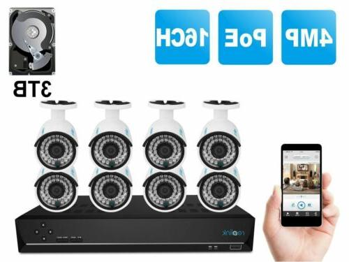 PoE Wired Security Camera NVR